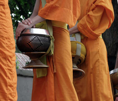 monks in lao