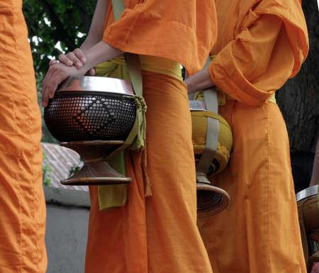 monniken in lao Stockfoto