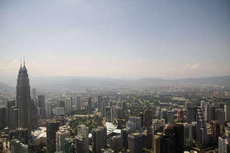een antenne perspectief van een moderne stad Stockfoto
