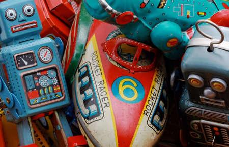 Juguetes antiguos de estaño  Foto de archivo - 7702123