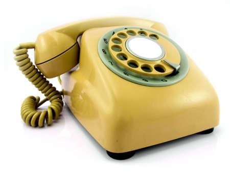 yelloe retro phone