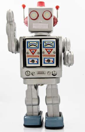 old retro robot toy