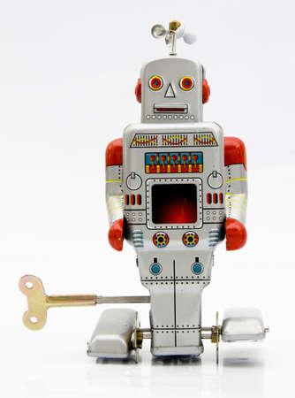 Retro robot speel goed