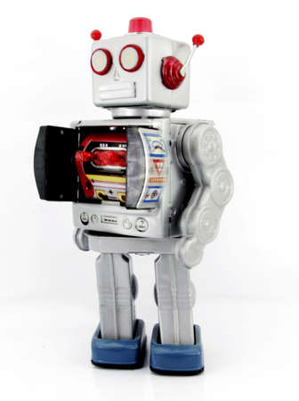 robot toy with  ray gun Stock Photo - 7902658