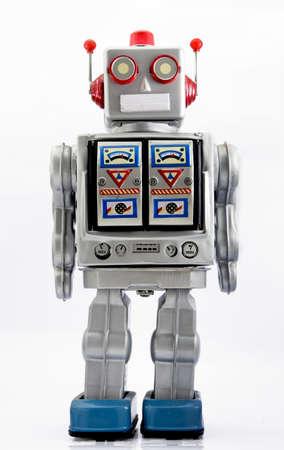 robot: zabawki retro robota  Zdjęcie Seryjne
