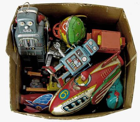 windup: toy box Stock Photo