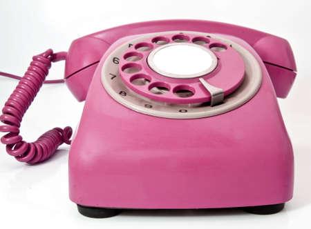 pink retro phone Imagens