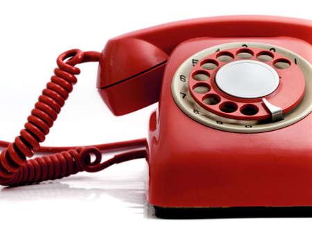red retro phone  photo
