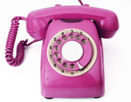 bright pink phone Imagens