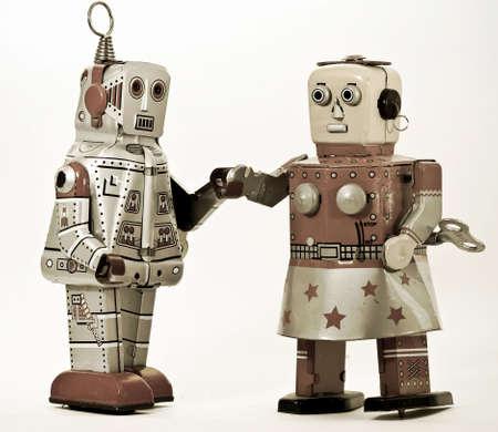 Dos robots juntos  Foto de archivo - 7902693
