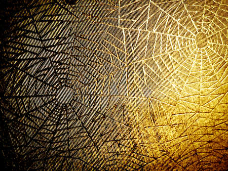 haloween: old paper with cobweb pattern ( background texture )