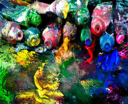 creativity artist:  imagen de fondo de la pintura antigua y desordenado