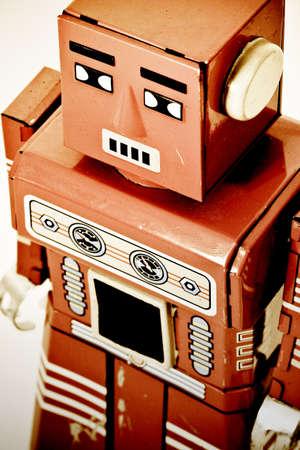 retro robot:  old retro robot toy Stock Photo