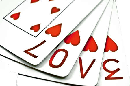 playing cards with the word love  Banco de Imagens