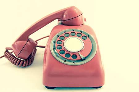 retro phone: old retro phone  Stock Photo