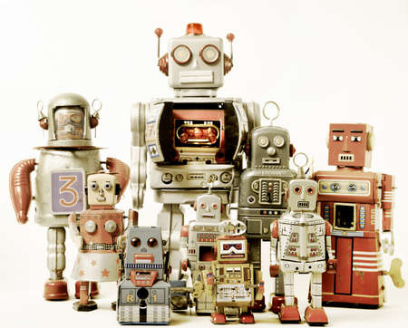 robot team  Foto de archivo