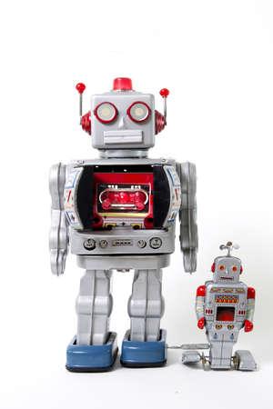 父と息子のロボット ロイス 写真素材