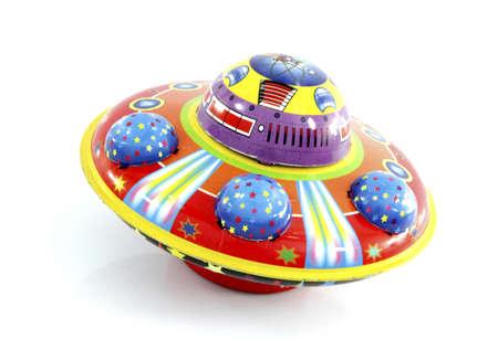 レトロなブリキの ufo