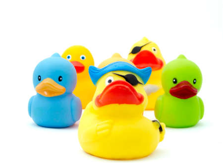 squeak: rubber duck,s  Stock Photo