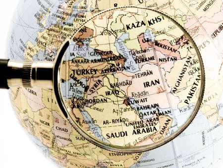 中東に焦点を当てる 写真素材