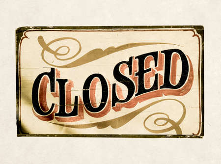 old closed sign Stock fotó