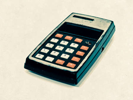 grung: old calculator Stock Photo