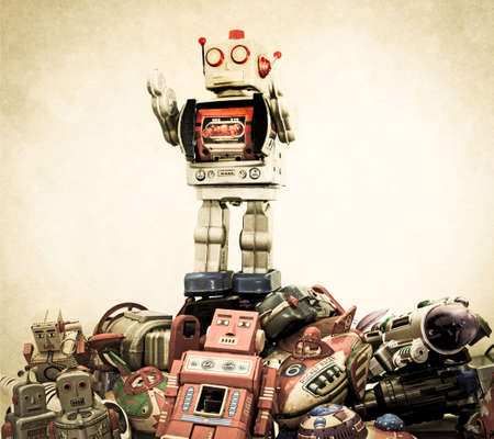 grote robot op de top Stockfoto