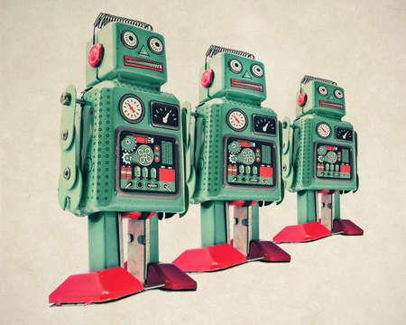 レトロなロボット玩具 写真素材