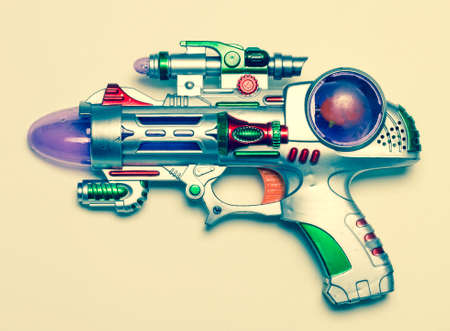 machine gun: ray gun toy Stock Photo