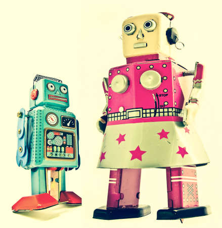 mother and son robots