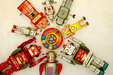 windup: robot gather round there mother ship