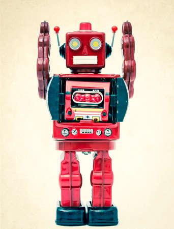 Robot de juguete reto Foto de archivo - 35003034
