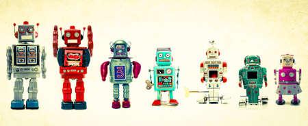 een team van robots Stockfoto