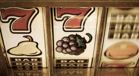 vegas sign: old slot machine