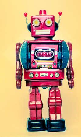 Retro robot de juguete Foto de archivo - 44547359