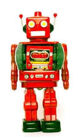 retro robot de juguete