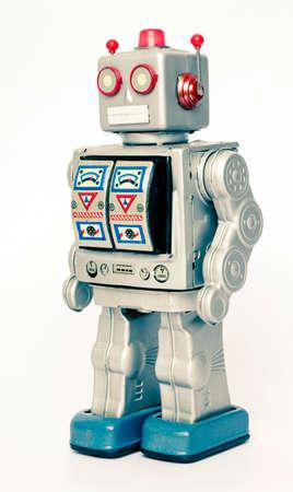 juguetes antiguos: retro robot de juguete