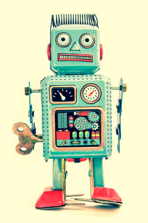 discredit: tired robot retro robot toy Stock Photo