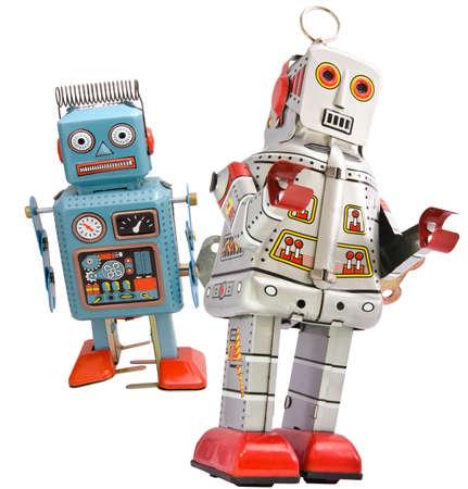 perplexity: tired robot retro robot toy Stock Photo