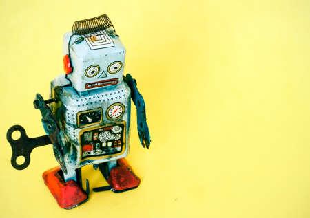 een droevige robot speelgoed Stockfoto