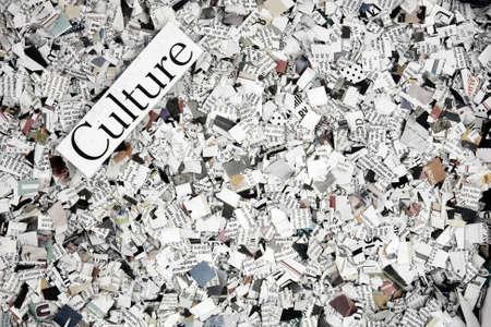 news paper confetti concept Banque d'images