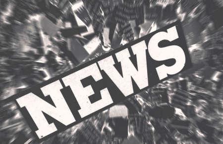news paper: news paper confetti concept Stock Photo