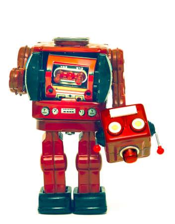 retro robot has lost his head Banco de Imagens