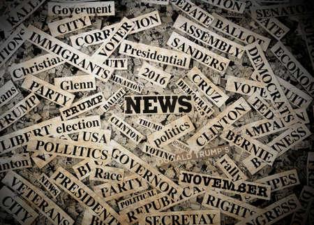 Polatics montage and newspaper