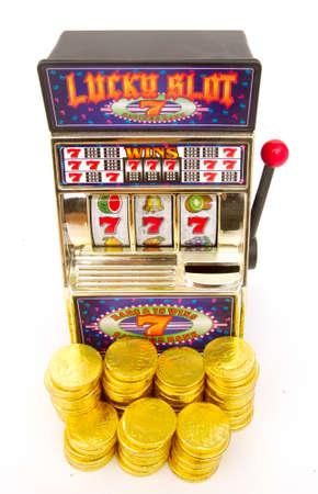 vintage slot machineswith gold money
