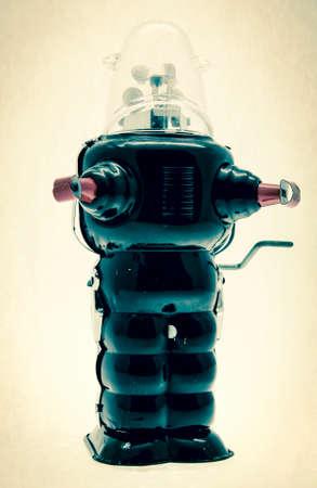 old blck robot toy
