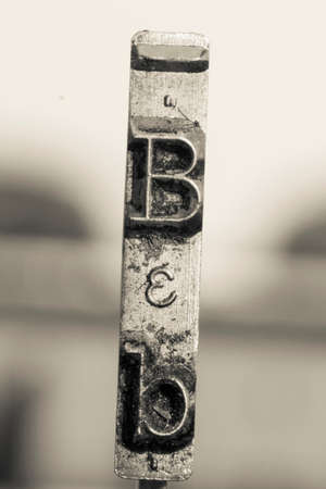 the letter B  old typewriter