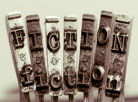the word  FICTION made from old typewriter text 版權商用圖片
