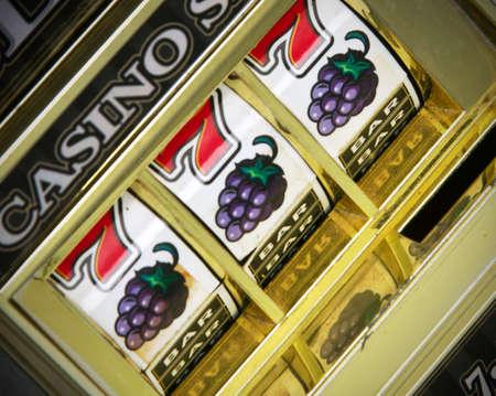 casino slot machine close up  Foto de archivo