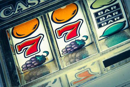 casino slot machine close up Editorial
